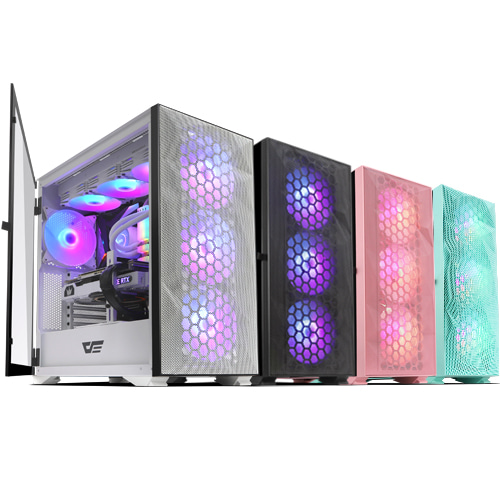 darkFlash DLX21 RGB MESH 강화유리 (핑크)